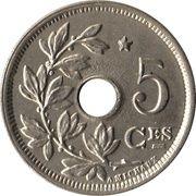 5 centimes - Albert Ier (en français, avec étoile) – revers
