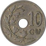 10 centimes - Léopold II - type Michaux (en français, petite date) -  revers