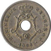 10 centimes - Léopold II - type Michaux (en néerlandais, petite date) -  avers