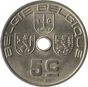 5 centimes - Léopold III (Belgie-Belgique) – revers