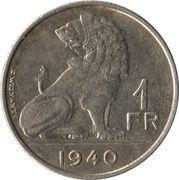 1 franc - Léopold III (Belgie Belgique) -  revers