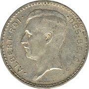 20 francs - Albert Ier (en français) -  avers