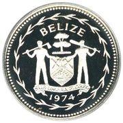 1 dollar - Elizabeth II (Ara rouge ; Argent) – avers