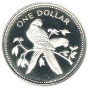 1 dollar - Elizabeth II (Ara rouge ; Argent) – revers
