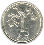 25 cents (BE) – revers