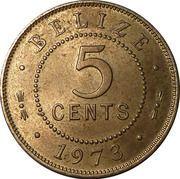 5 cents - Elizabeth II (1ére effigie) – revers
