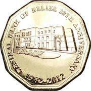 1 dollar (30ans Banque Centrale de Belize) -  avers