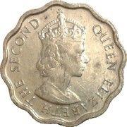 1 cent - Elizabeth II (1ère effigie) – avers