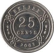 25 Cents - Elizabeth II (1er effigie) -  revers