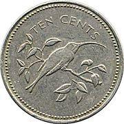 10 cents (Ermite à longue queue) – revers
