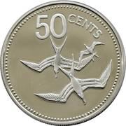 50 cents - Elizabeth II (coffret) – revers