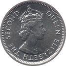 5 cents - Elizabeth II (1er effigie) – avers
