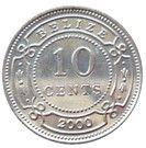 10 cents - Elizabeth II (1er effigie) – revers
