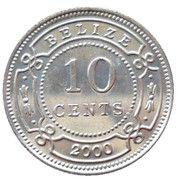 10 cents - Elizabeth II (1ère effigie) -  revers