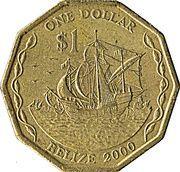 1 dollar - Elizabeth II (3eme effigie) -  revers