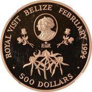 500 Dollars - Elizabeth II (Royal Visit) – revers