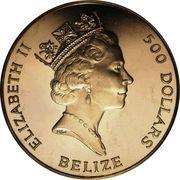 500 Dollars - Elizabeth II (40ème anniversaire de couronnement) – avers