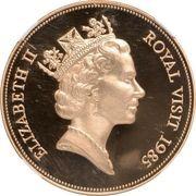 500 Dollars - Elizabeth II (Visite royale) – avers