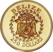 250 Dollars - Elizabeth II (Central Bank) – avers