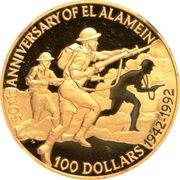 250 Dollars - Elizabeth II (El Alamein) – revers
