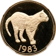 100 Dollars - Elizabeth II (Margay Jungle Cat) – revers