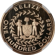 100 Dollars - Elizabeth II (Kinkajou) – avers