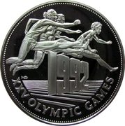 25 dollars (Jeux Olympiques Barcelone 1992) – revers