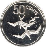 50 cents - Elizabeth II (Frégates ; Argent) – revers