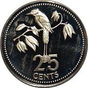 25 Cents - Elizabeth II (Blue-crowned Motmot) – revers