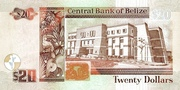 20 Dollars (30th Anniversary of the Central Bank of Belize) – revers