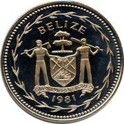 1 dollar - Elizabeth II (Ara rouge) -  avers