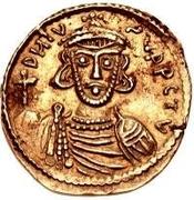 1 solidus Romoald II / Au nom de Justinien II, 705-711 (quatre marches) – avers