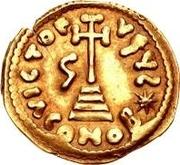 1 solidus Grégoire / Au nom de Justinien II, 705-711 (avec étoile) – revers