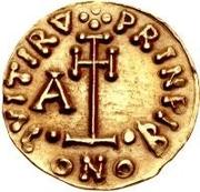 1 tremissis Arichis II, Prince – revers