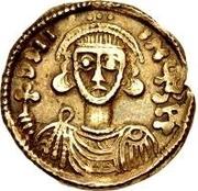 1 solidus Godescalc / Au nom de Justinien II, 705-711 – avers