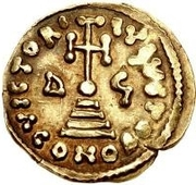 1 solidus Godescalc / Au nom de Justinien II, 705-711 – revers
