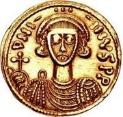 1 solidus Gisolf II / Au nom de Justinien II, 705-711 (monogramme régulier) – avers