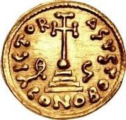 1 solidus Gisolf II / Au nom de Justinien II, 705-711 (monogramme régulier) – revers
