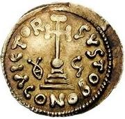 1 solidus Gisolf II / Au nom de Justinien II, 705-711 (monogramme inverté) – revers
