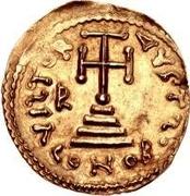 1 solidus Romoald II / Au nom de Justinien II, 705-711 (quatre marches) – revers