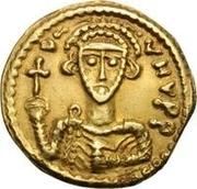 1 solidus Liutprand / Au nom de Justinien II, 705-711 (croix grand) – avers