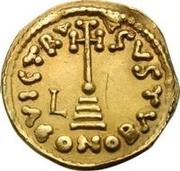 1 solidus Liutprand / Au nom de Justinien II, 705-711 (croix grand) – revers