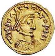 1 tremissis Anonyme / Au nom de Constantine IV, 668-685 – avers