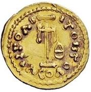 1 tremissis Anonyme / Au nom de Constantin IV, 668-685 – revers