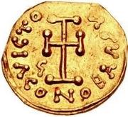 1 tremissis Gisolf I / Au nom de Tibère III, 698-705 – revers