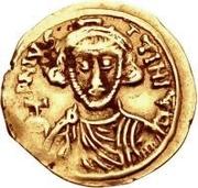 1 tremissis Romoald II / Au nom de Justinien II, 705-711 – avers