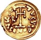 1 tremissis Romoald II / Au nom de Justinien II, 705-711 – revers