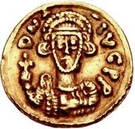 1 tremissis Gisolf II / Au nom de Justinien II, 705-711 – avers