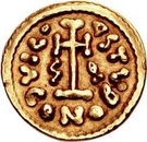1 tremissis Gisolf II / Au nom de Justinien II, 705-711 – revers