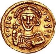 1 tremissis Anonyme / Au nom de Justinien II, 705-711 – avers